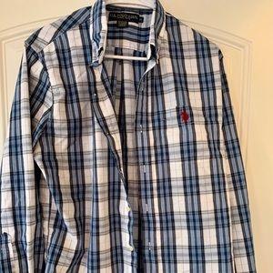 Polo button down, long sleeve